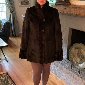 Reversible fur coat